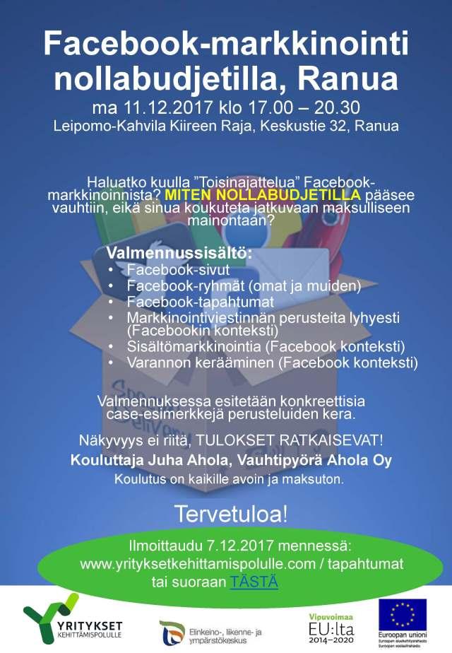 Facebookmarkkinointi 11.12.2017 Ranua