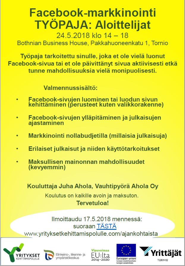 FB-työpaja Aloittelijat Tornio