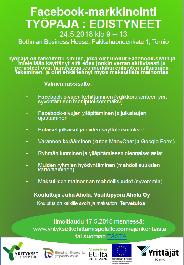 FB -työpaja Edistyneet, Tornio