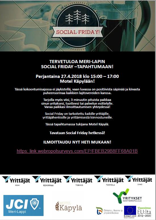 Meri-Lappi Social Friday 27.4. Käpylä